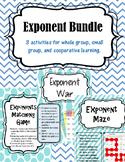 Exponent Activity Bundle. Exponent Maze, Exponent War, Exp