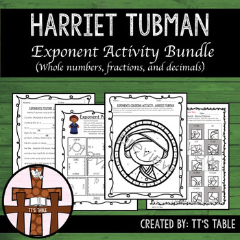 Exponent Activity Bundle:  Harriet Tubman