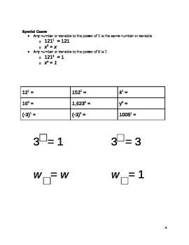 Exponent Basics