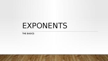 Exponent Basics PowerPoint