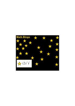 Exponent Bingo SmartBoard Game