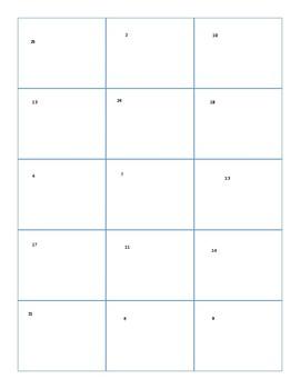 Exponent Bingo V2