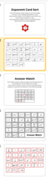 Exponent Card Sort