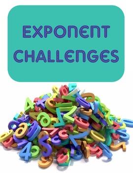 Exponent Challenge Problems- Enrichment