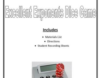 Exponent Dice Game