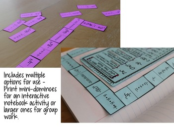 Exponent Dominoes and Interactive Notebook Activity