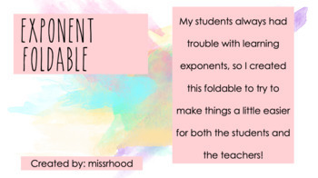 Exponent Foldable