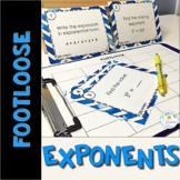 Exponent Task Cards - Footloose Math Game