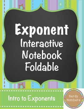 Exponent Interactive Notebook Foldable Page