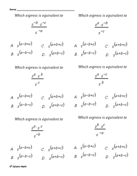 Exponent Law (Quiz 2)