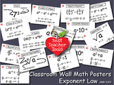 Math Posters, Math Concept Posters, Exponent Law Wall Post