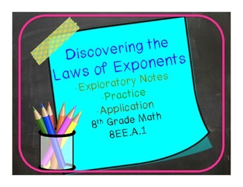 Exponent Laws 8.EE.A.1  Exploratory notes, practice and ap