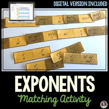 Exponent Laws - Cut and Paste Activity