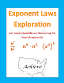 Exponent Laws Exploration (Inquiry Based Assignment)