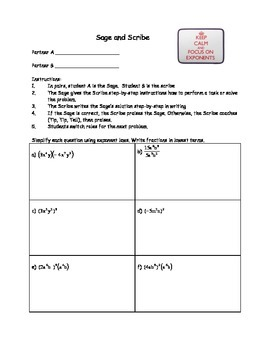 Sage And Scribe Worksheets & Teaching Resources | TpT
