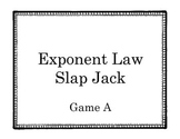 Exponent Laws Slap Jack- Game A
