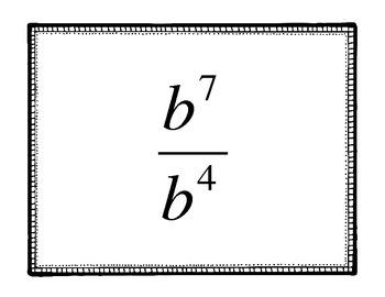 Exponent Laws Slap Jack- Game B