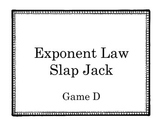 Exponent Laws Slap Jack- Game D