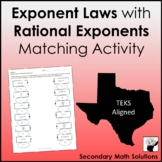 Exponent Laws with Rational Exponents (A11B)