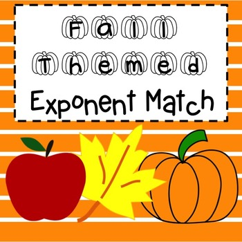 Exponent Match Fall Themed