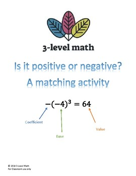 Exponent Matching Activity--Negative and Positive Bases