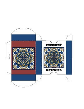 Exponent Matching Card Game Box