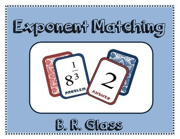 Exponent Matching Card Game/Task
