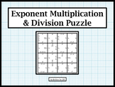 Exponent Multiplication and Division Puzzle