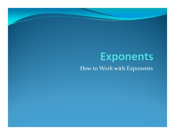 Exponent Notes