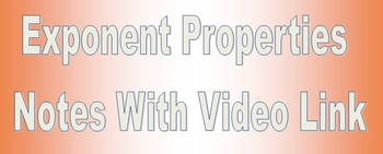 Exponent Notes With Video Link