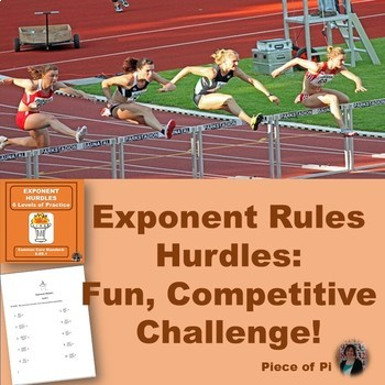 Exponent Hurdles Math 8.EE.1 Practice Exponent Rules Algebra Differentiation
