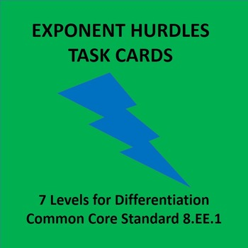 Exponent Rules Practice Hurdles 8.EE.1