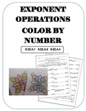 Exponent Operations Color By Number
