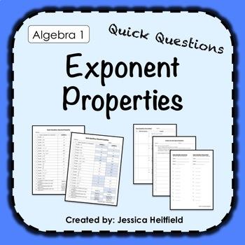 Exponent Properties Activity: Fix Common Mistakes!