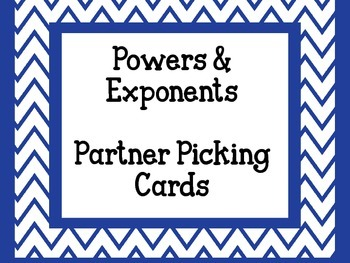Exponent Partner Picking Cards