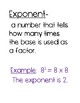 Exponent Poster Set