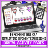 Exponent Practice Digital Activity Pages for Google Slides™
