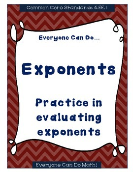 Exponent Practice: Homework or Worksheets
