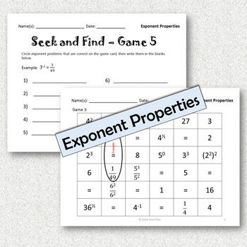 Exponent Properties Activity