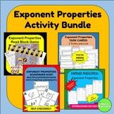 Exponent Properties Activity Bundle