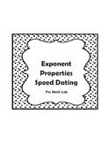 Exponent Properties Activity - Speed Dating