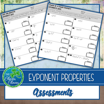 Exponent Properties - Assessments