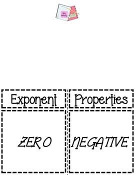 Exponent Properties Foldable for Interactive Notebooks