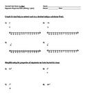 Exponent Properties Homework