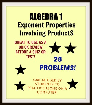 Exponent Properties Involving Products