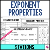 Exponent Rules & Exponent Properties Math Stations  :  Mid