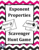 Exponent Properties Scavenger Hunt Game