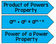 Exponent Properties Word Wall