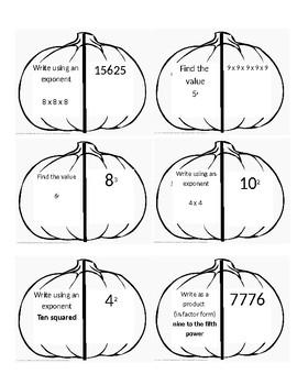 Exponent Pumpkin Match