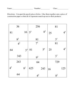 Exponent Puzzle